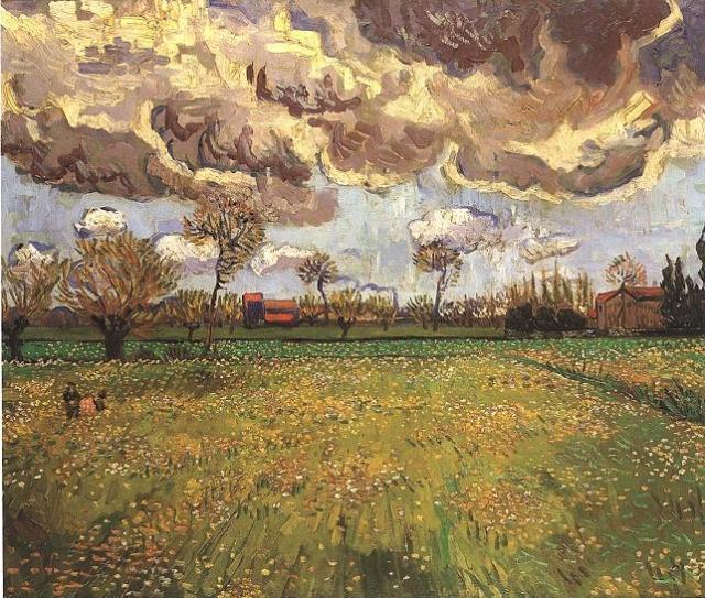 Van Gogh, Paisagem sob um céu tormentoso