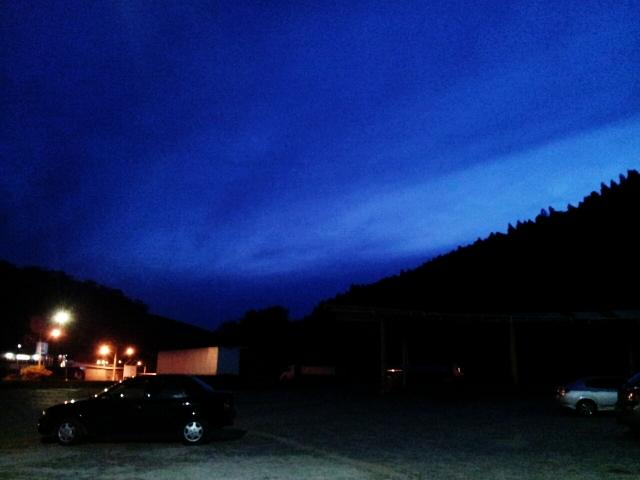 Noite azulada, em Muriaé-MG.