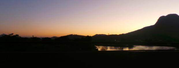 Pôr do sol em Itaocara, a partir da ponte sobre o rio Paraíba do Sul.