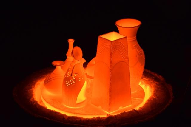 Ateliê Gaia: peças queimadas no forno raku (foto do autor).